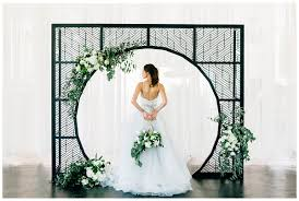 wedding backdrop modern modern black and white wedding ceremony inspiration lemiga events