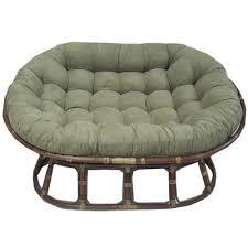 Papasan Chair And Cushion Gregoria Rattan Double Papasan Chair With Micro Suede Cushion
