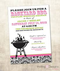 couples bridal shower bbq wedding shower invitation couples by invitingdesignstudio best
