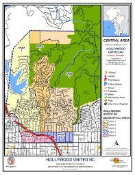 Los Angeles Suburbs Map Hollywood United Neighborhood Council