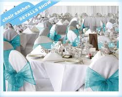 turquoise chair sashes new organza chair sashes bow wedding cover banquet turquoise