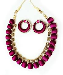 necklace designs with beads images Buy silk thread necklace online at low prices in india amazon jpg