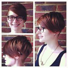 ladies haircut disconnected and asymmetric layering on top