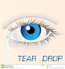eye with a tear drop stock illustration illustration of drops