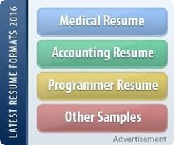 Latest Resumes Format by Resume 2016 Latest Resume Format And Samples Scoop It
