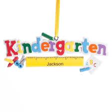 personalized kindergarten ornament tree ornament miles kimball