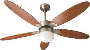 pale soffitto con luce ventilatore da soffitto 5 pale 纔 130 cm marrone con luce e comando