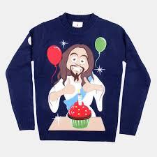 christmas jumper happy birthday jesus christmas jumper from funky christmas jumpers