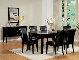 black dining room table set fabulous black table and chairs set alluring black dining room
