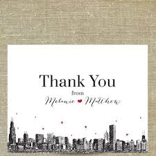 chicago skyline thank you cards pixie chicago thank you cards