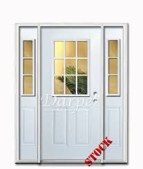 9 Lite Exterior Door 9 Lite Half Clear Glass Steel Exterior Door With Siedlites 6 8