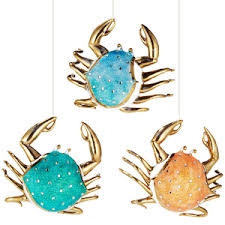 siena crab ornament set