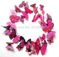 aliexpress com buy free shipping pretty diy 3d butterfly wall