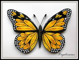paper quilled monarch butterfly by suganthi cutting edge paper