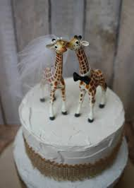 giraffe cake topper giraffe wedding cake topper animal wedding cake topper giraffe