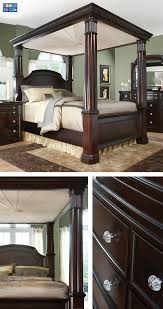 Bedroom Furniture At Rooms To Go Shop For A Cindy Crawford Home Trinidad 6 Pc King Canopy Bedroom