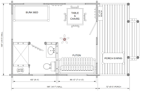 Cabin Floorplan by Prairie Kraft Specialties Log Cabin Manucturing Standard Koa Kottage