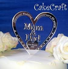 mirrored personalised mum dad diamond wedding anniversary cake