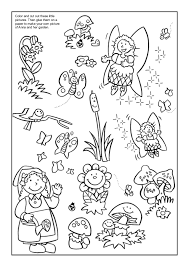 coloring book anna flower garden