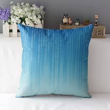 Vintage Retro Home Decor Light Blue Cushion Covers Gray Navy Decorative Throw Pillows