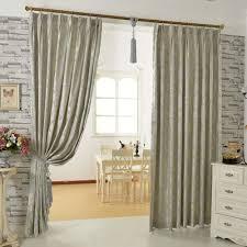 floral jacquard artificial fiber modern curtains for living room