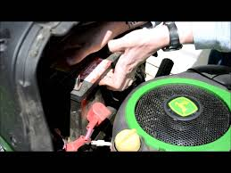 john deere lawn tractor battery change a guide youtube