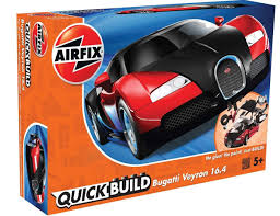 toy bugatti airfix quick build bugatti veyron black u0026 red 6020 from emodels