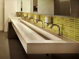Double Trough Sink Bathroom Bathroom Provides A Transitional Design Perfect With Trough Sinks
