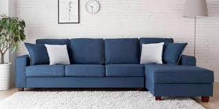 navy blue floor l andrea l shape sofa in navy blue color l type sofa zapwood