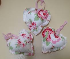 Fabric Heart Decorations Hanging Floral Hearts U2013 Tutorial Lizzy U0027s Homemade