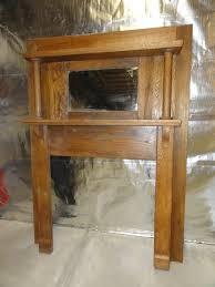 vintage oak fireplace mantel with mirror u2013 sold we u0027re having a sale