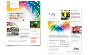 Sales Sheet Template House Painting Contractor Sales Sheet Design Sell Sheet