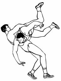 roman wrestling style coloring color luna