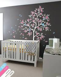 Nursery Wall Tree Decals Wall Decor Tree Nursery Wall Tree Decal Murals With Leaves