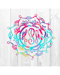 monogram decals spectacular deal on mandala decal mandala monogram decal lilly