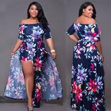 plus size womens jumpsuits plus size floral romper dress evening bodycon