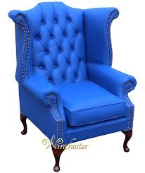 Queen Anne Wingback Chair Leather Chesterfield Queen Anne High Back Wing Chair Uk Manufactured