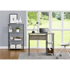 writing desk with shelves gray desks home office furniture the home depot