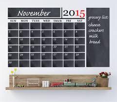 chalkboard calendar wall decals