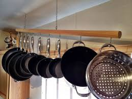 Kitchen Rack Designs by Less Is More This Chic Modern Pot Rack Is Unimposing Convenient