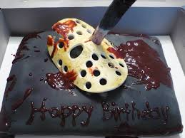 halloween cakes pinterest friday the 13th bday cake too cool horrorific sweet stuff