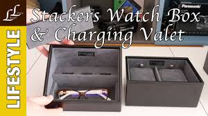 charging box stackers watch box valet charging station review youtube