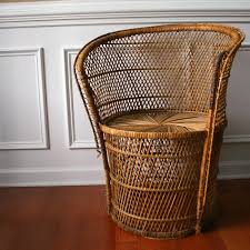 Rattan Kitchen Furniture by Furniture Vintage Round Rattan Chair
