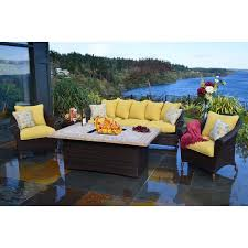 alderbrook faux wood fire table alderbrook faux wood fire table outdoor dining with pit seating area
