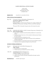 sample objective statements for resumes criminal justice resume objective examples frizzigame criminal justice resume objective examples