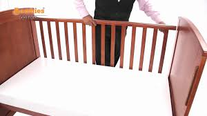 How To Convert A Crib To Toddler Bed by Wooden Cot Bed Youtube