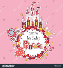 many stock birthday party invitation card vector creation princess birthday party card greeting card stock vector 643953988