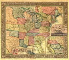 Maps Of United States Of America by Old Railroad Usa Map Prints