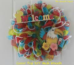 mesh wreaths color pop diy summer mesh wreath the wreath depot
