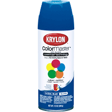 krylon 12oz indoor outdoor spray paint in global blue gloss